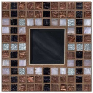 Silver Coffee Mosaic Mirror Kit