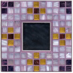 Lilac Gold Mosaic Mirror Kit