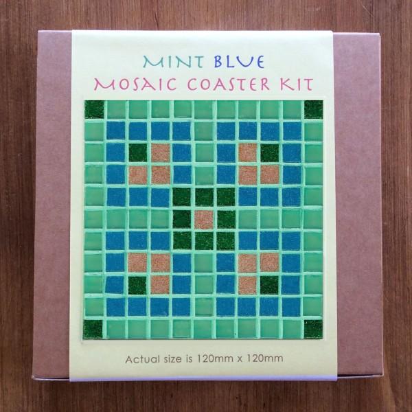 Mint Blue Mosaic Coaster Kit The Mosaic Gallery