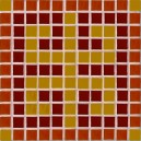 Red Orange Mosaic Coaster Kit